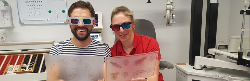 Optometristen bei der Arbeit